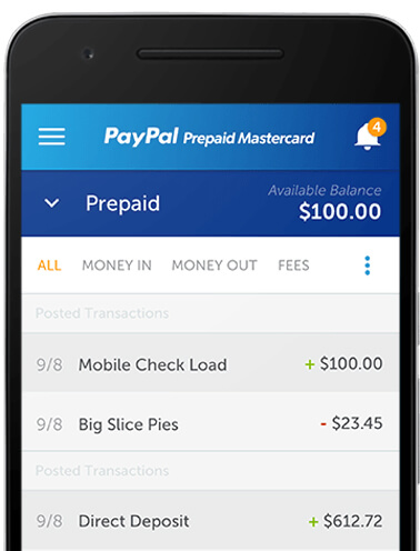 mobile app - Prepaid Cards With Mobile Deposit